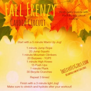 Fall Frenzy Cardio Routine!