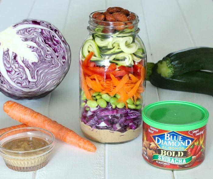 Zucchini Noodle Asian Salad