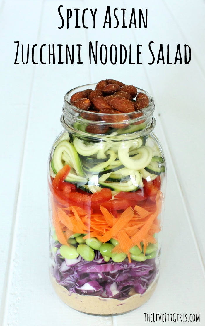 Spicy Asian Zucchini Noodle Salad