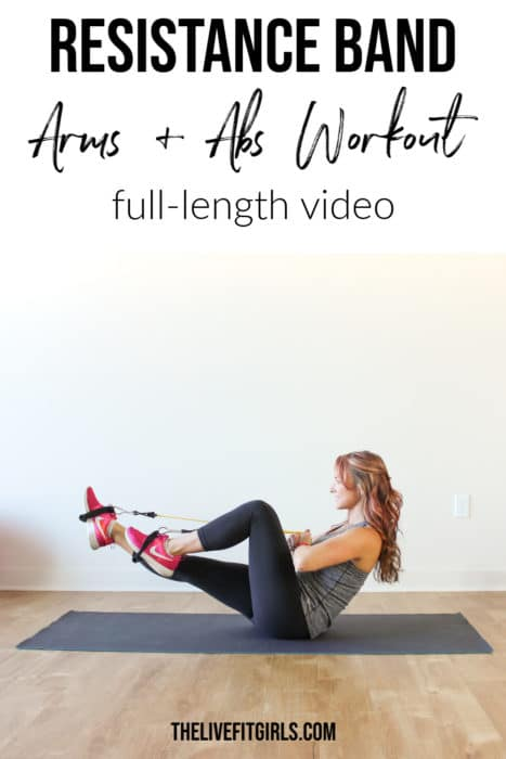 Resistance Band Ab Arms Workout Toning Band Exercises Arms Abs