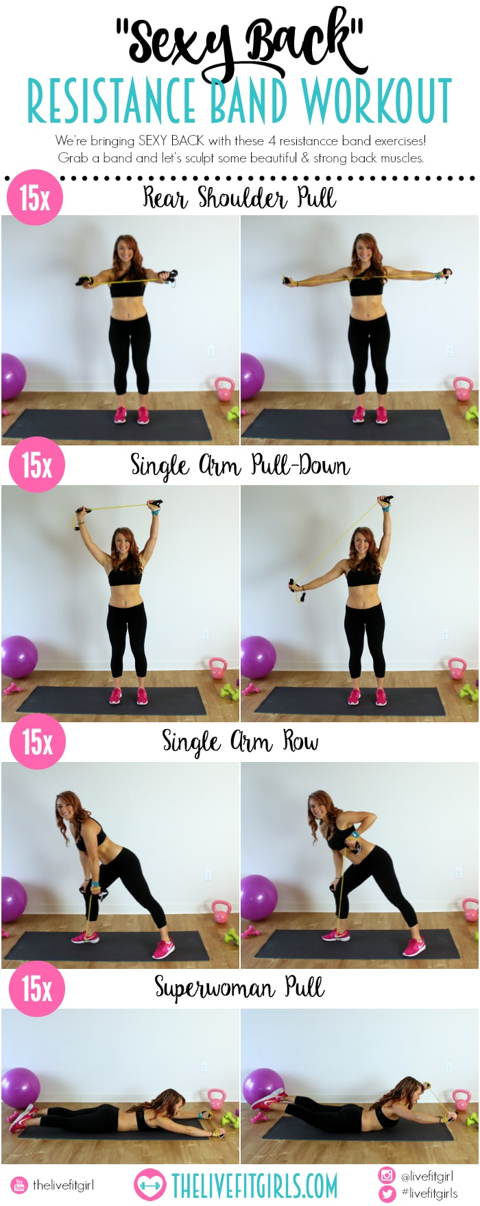 Sexy Back Resistance Band Workout
