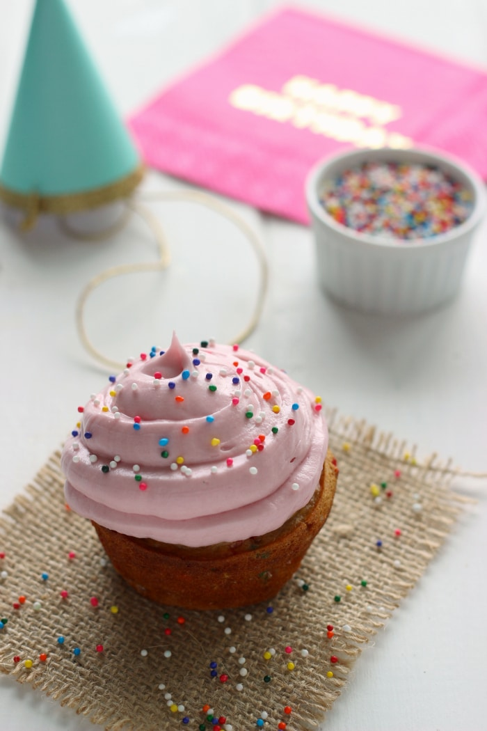 Single Serve Funfetti Cupcake