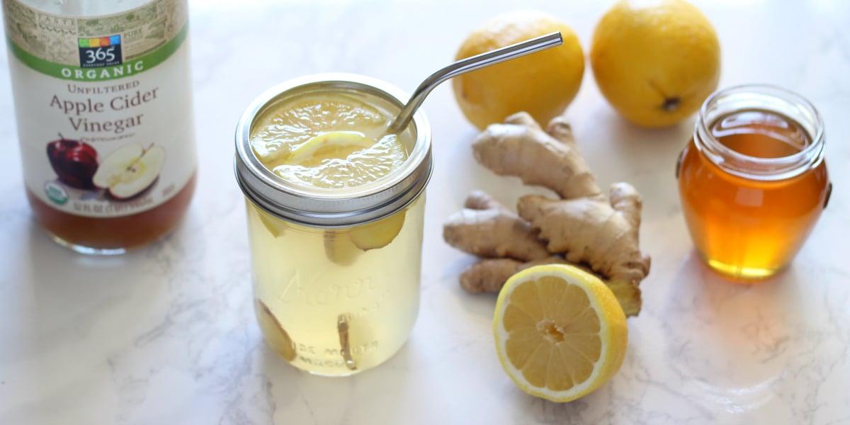Ginger Lemon Detox Drink FB