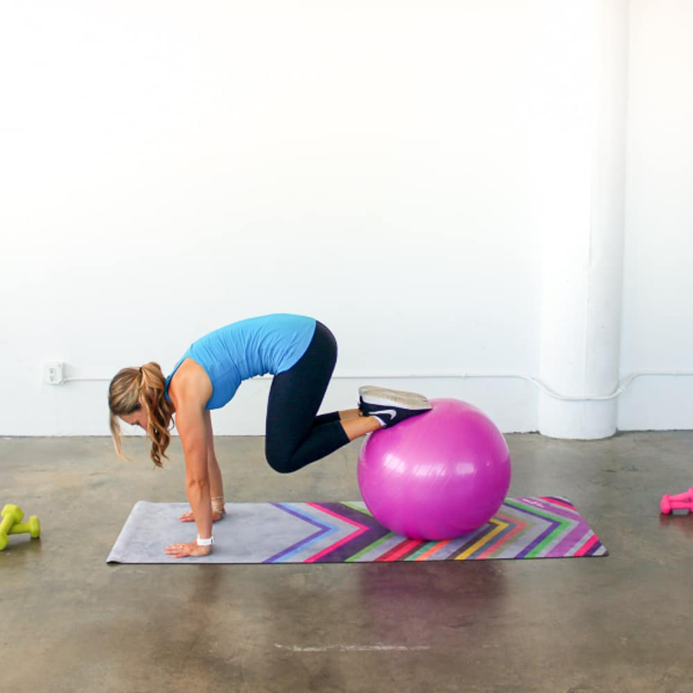 Stability Ball Ab Workout • The Live Fit Girls