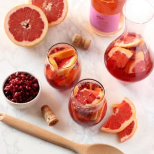 Pomegranate Grapefruit Rosé Sangria